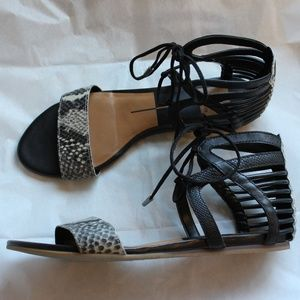 Dolce Vita snake embossed lace-up sandals